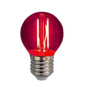 Λάμπα LED Σφαιρική Filament 3W E27 230V Κόκκινο 80970